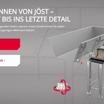 Dosierrinnen von JÖST – neue Webseite